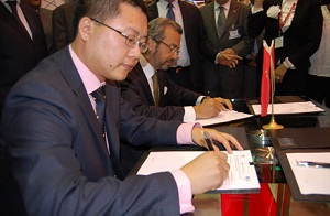 Huawei signing contract