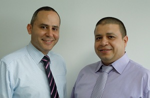 Fadi Bawab, Channel Manager Iraq, with Osama AbdElHai, Channel Manager HPN of Avnet Technology Solutions-2