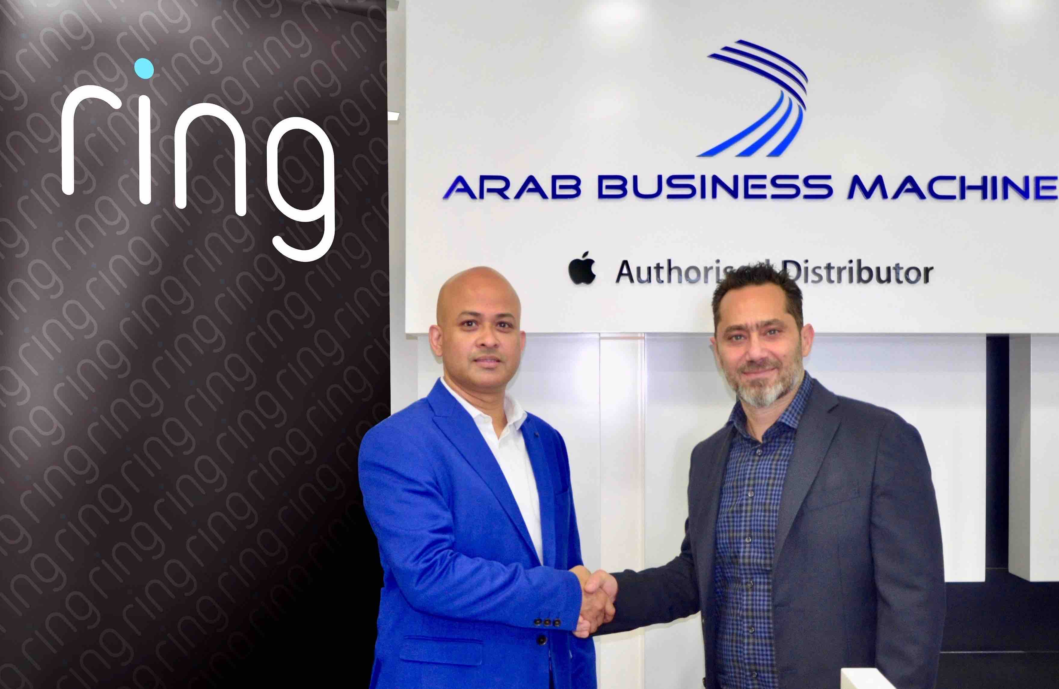 Mohammad Meraj Hoda, MD of Ring with Ghassan Bendali, GM, ABM ME