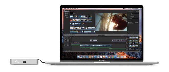 OWC USB-C Travel Dock Photo – with MacBook