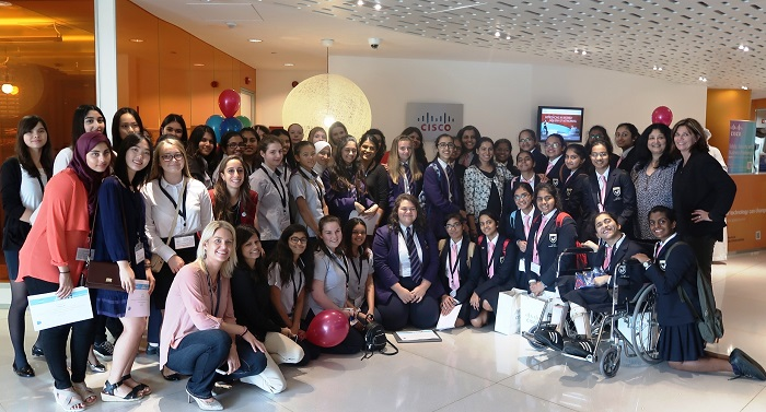 Cisco's Girls Power Tech event on 10 May, 2018.