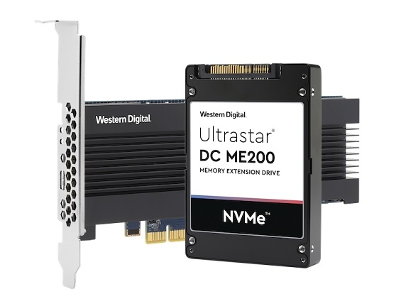 Western Digitallaunches Ultrastar DC ME200 Memory Extension Drive