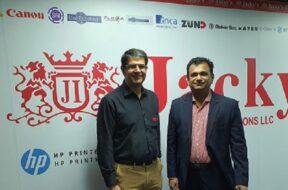 Ashish Panjabi, COO at Jacky's Business Solutions and P. Viswanathan, CEO of Saasz