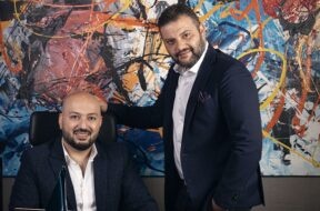 Osama Mortada, founder and CEO for CorporateStack with Mohamed Abdin, Co-Founder for CorporateStack (L to R)