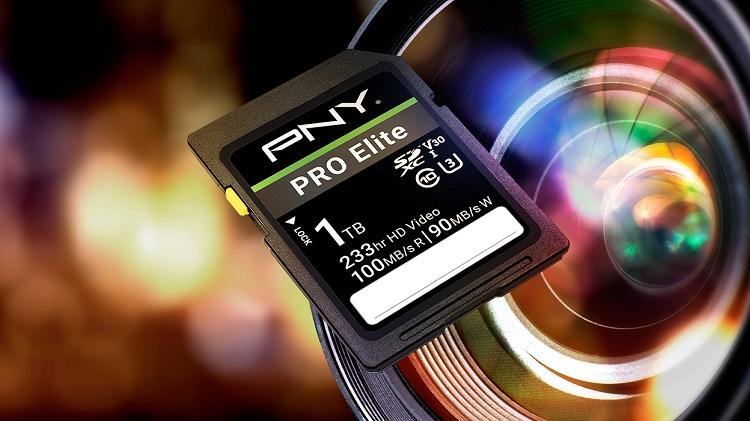 PNY 1TB PRO Elite SDXC Flash Memory card now available