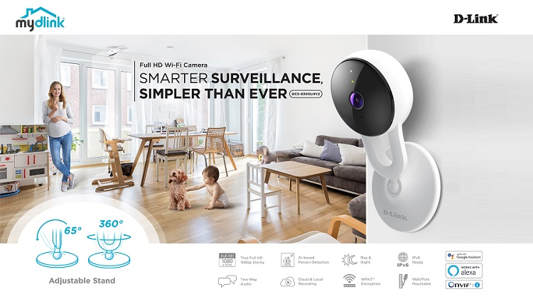 D-Link introduces Full HD Wi-Fi Camera with AI-based person detection