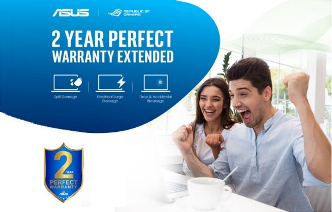 ASUS continues its 2 year perfect warranty exclusively in UAE