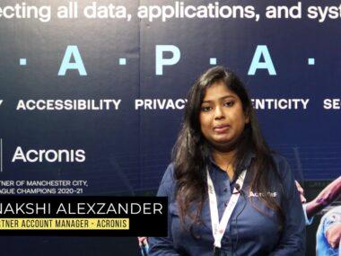 Meenashi Alexzander, Partner Account Manager – Acronis_Moment