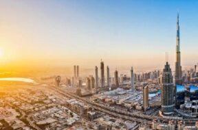 Dubai, Burj Khalifa, United Arab Emirates, Sunset, Cityscape