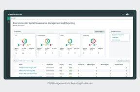 ServiceNow ESG dashboard